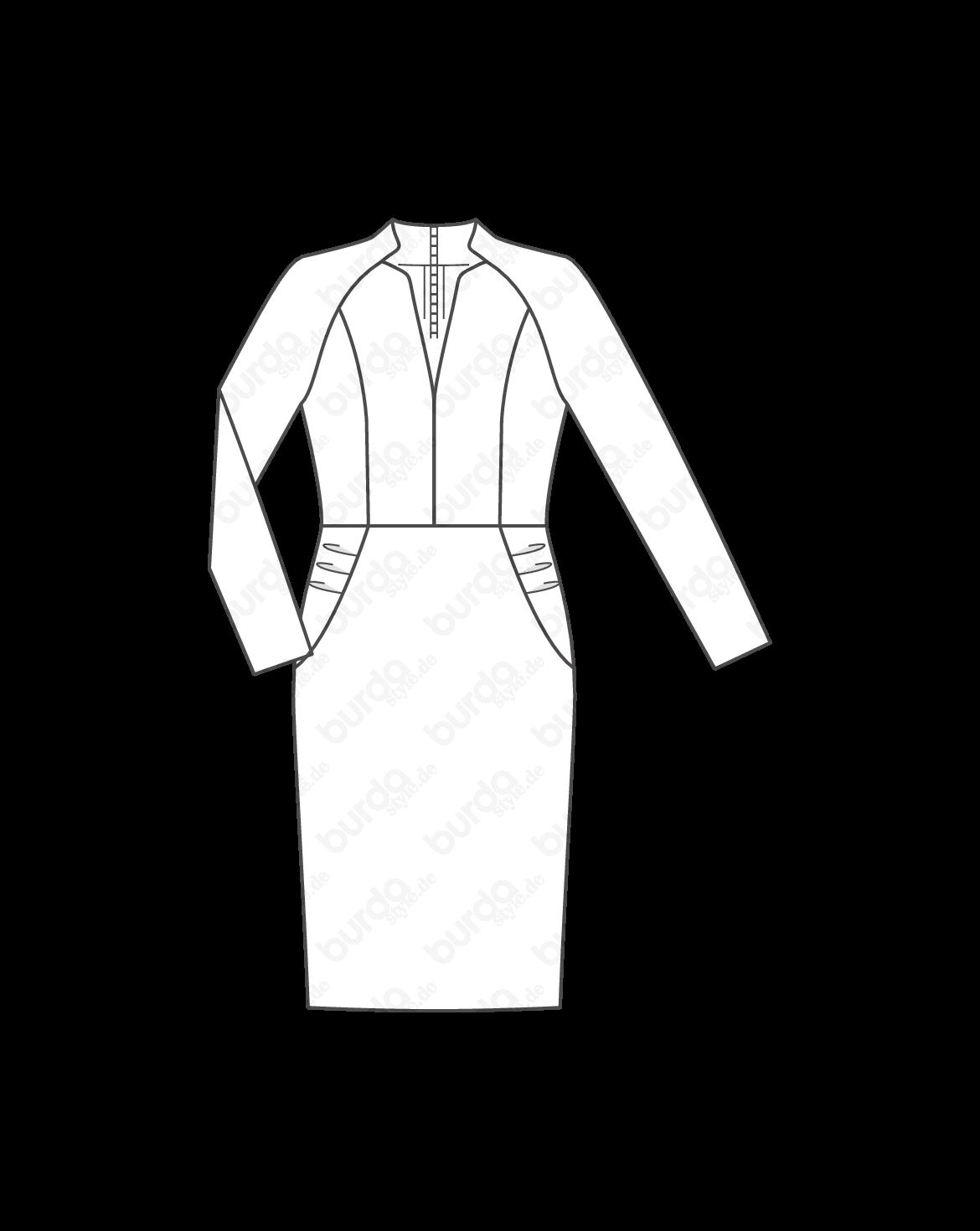 Kleid mit volant schnittmuster