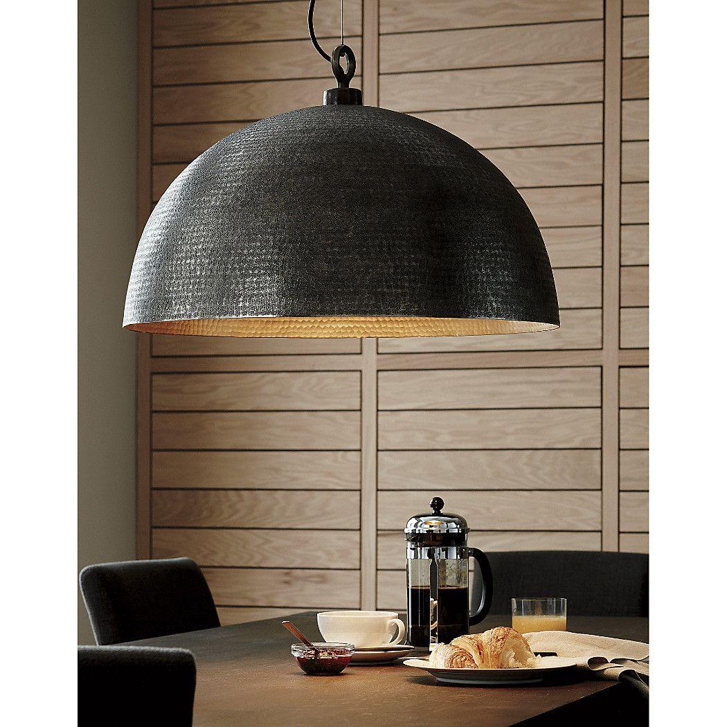 Rodan Hammered Metal Pendant Light Reviews Crate And Barrel Pendant Light Dome Pendant Lighting Table Pendant Light