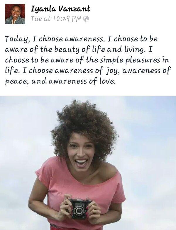 Awareness...