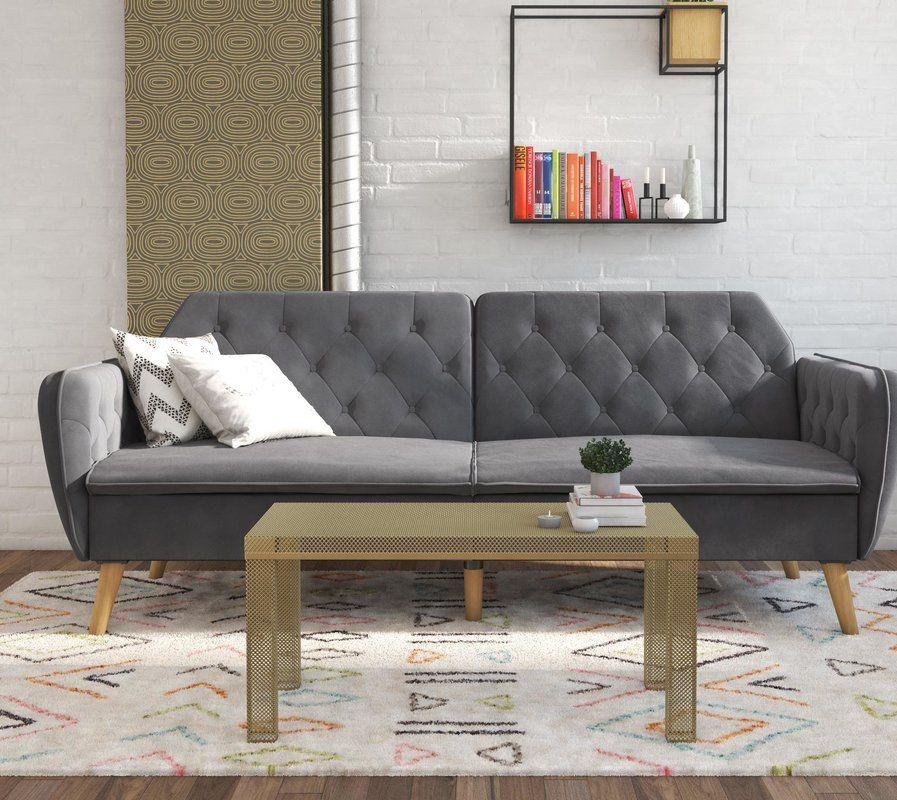 1704f5128b3c8baccaf59b733cabc26a - Better Homes & Gardens Porter Fabric Tufted Futon Rust Orange