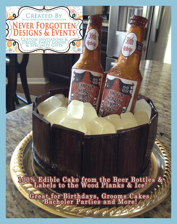 EDIBLE LABELS Custom Beer Bottle Cake Labels for Chocolate ...