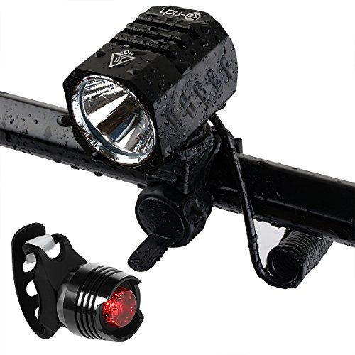 Super Bright Bike Light Usb Rechargeable Terich 1200 Lumens Waterproof Road Mountain Bicycle Headlight And Led Ta Rear Bike Light Bike Lights Usb Rechargeable