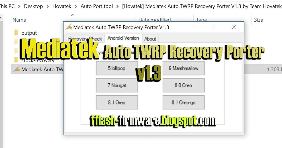 DownloadMediatek Auto TWRP Recovery Porter Feature: Mediatek