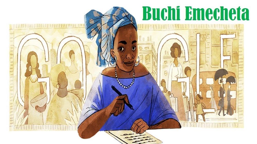 Google on Sunday celebrated Nigerian novelist Buchi