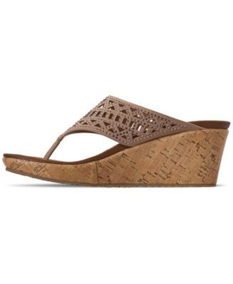 32f8ff3247c Skechers Women's Cali Beverlee - Summer Visit Wedge Sandals from Finish  Line - Tan/Beige 6.5