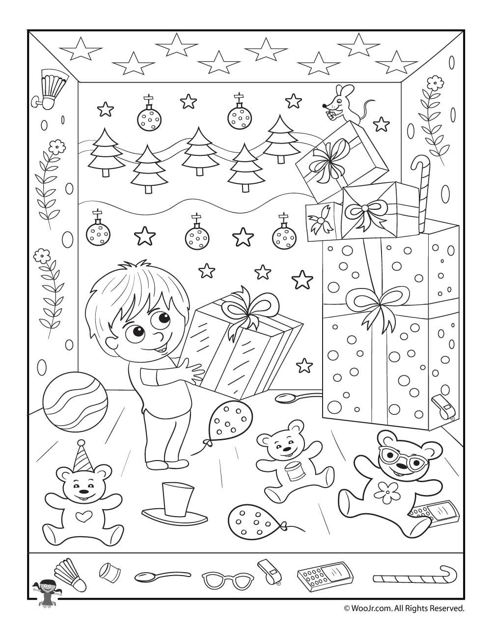 Christmas Gifts Hidden Picture Printable Activity Merry Christmas