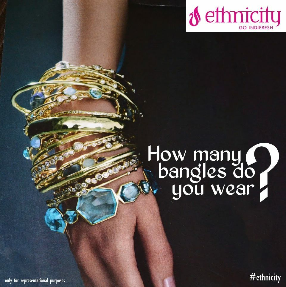 How many bangles do you wear on each wrist? Comment below and let us know! #ethnicity #indifresh #bangles #bangless #bangle #cartierbangle #fashion
