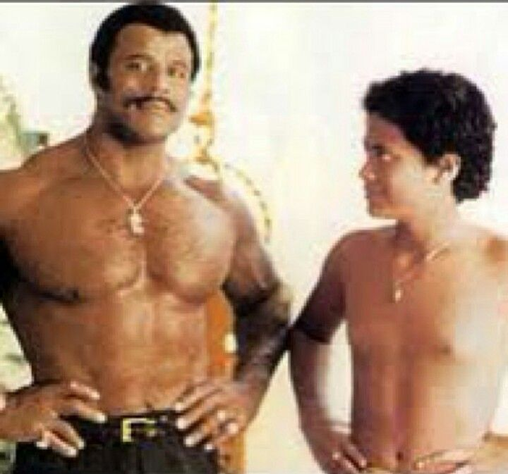 The Rock & his dad Rocky Johnson | Vintage Iconic ...