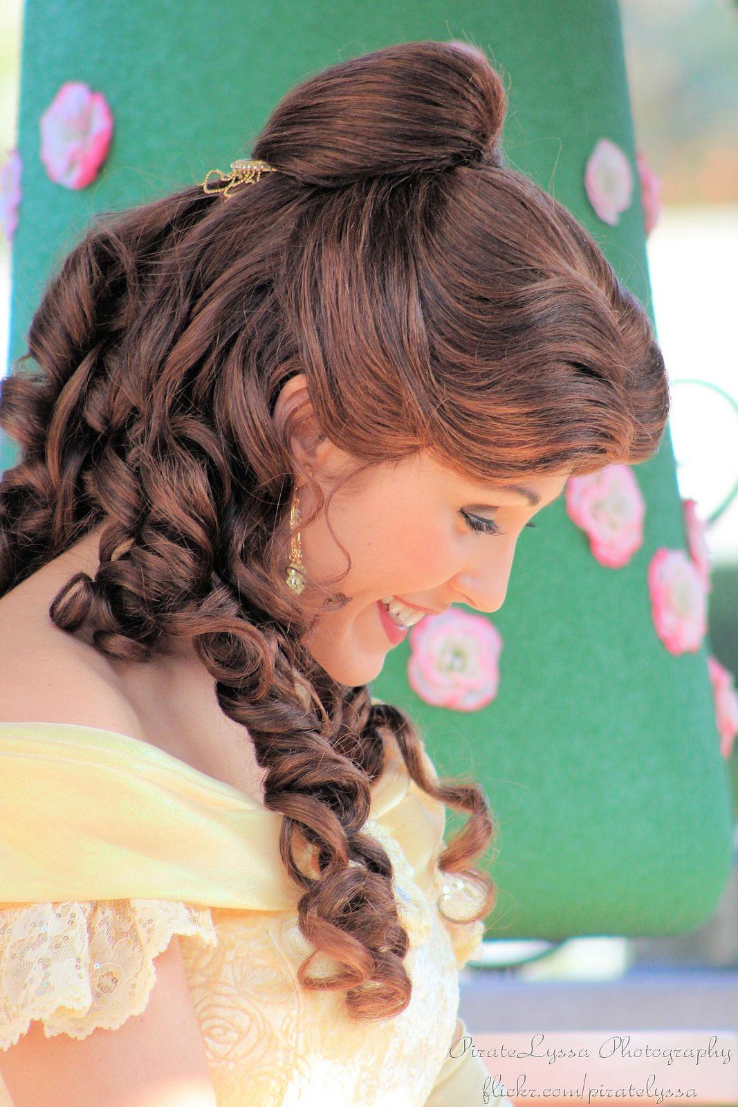 3835 Belle Hairstyle Disney Hairstyles Disney Hair