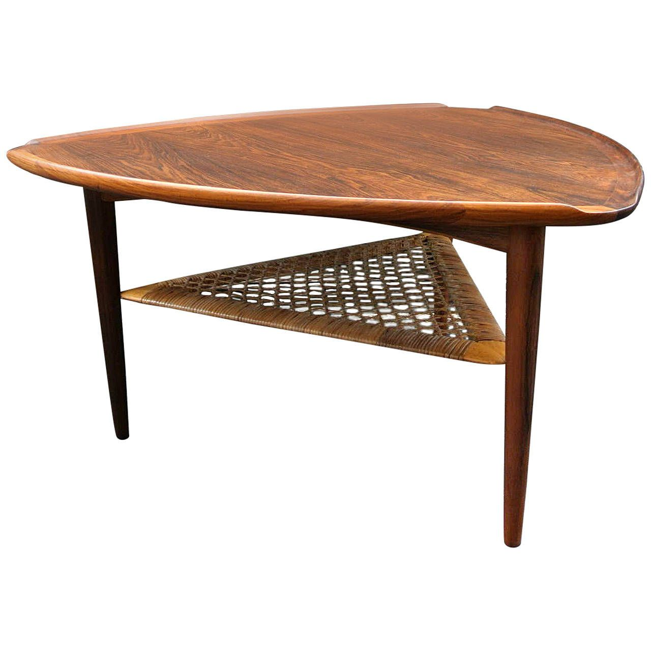 Poul Jensen Triangle Side Table Side Table Table Furniture Triangle End Table [ 1280 x 1280 Pixel ]