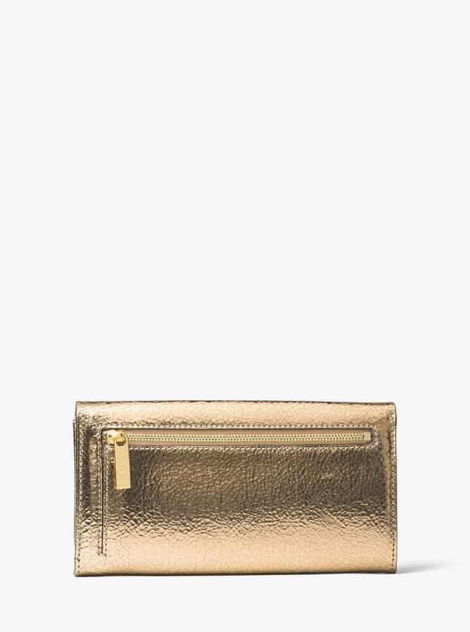 e35475957fa4 Bancroft Crackled Metallic Leather Continental Wallet  #statement#accessory#handbag