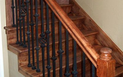 Mesquite Wood Amp Wrought Iron Stairs Stairs Mesquite