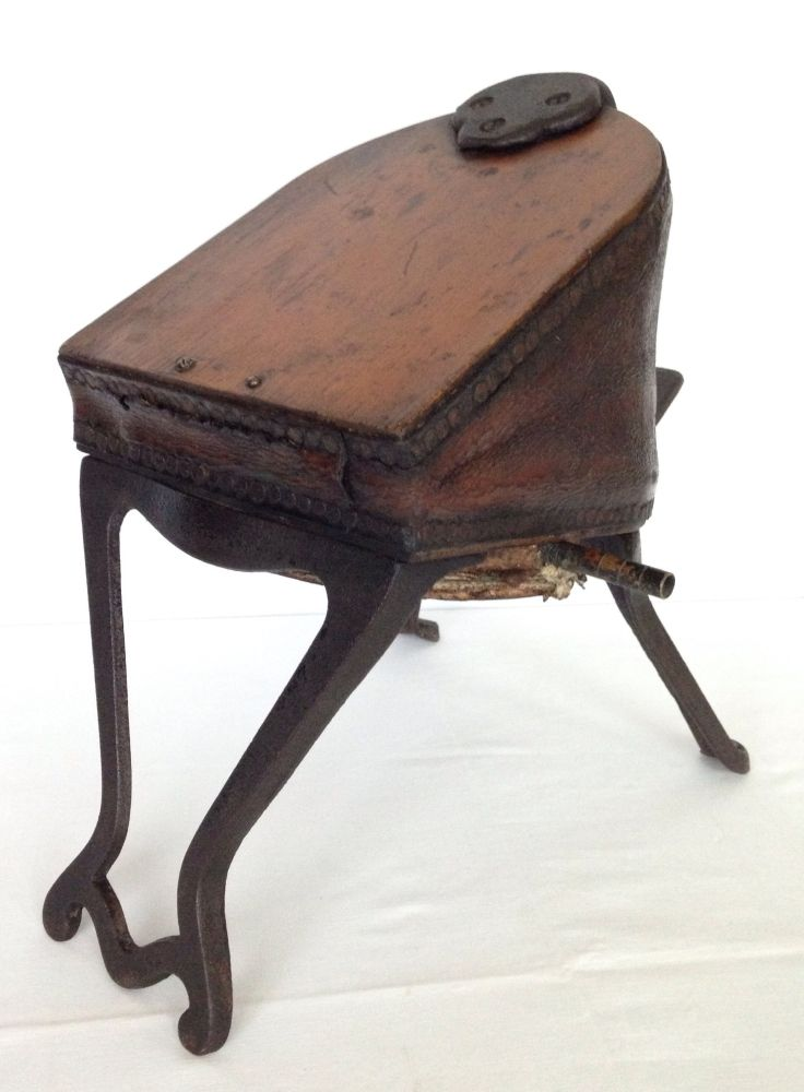 A Victorian foot bellows with cast iron feet...   Antiques ...