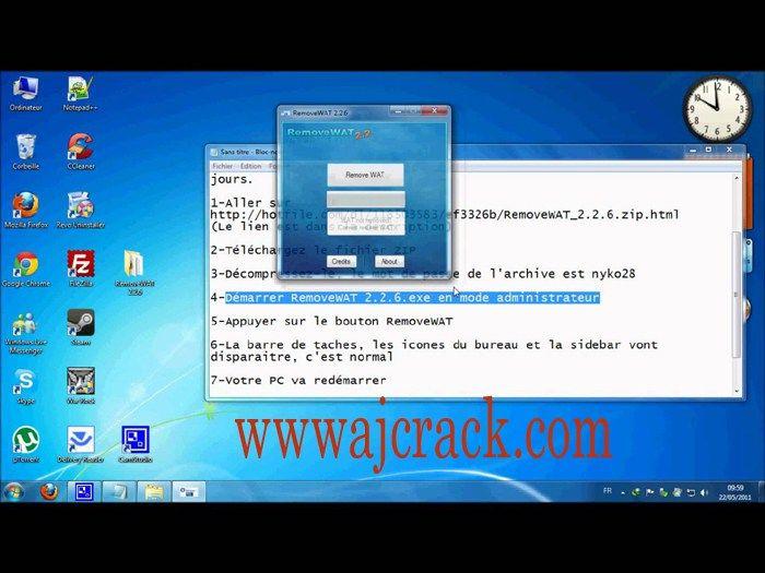 GRATUIT CLUBIC REMOVEWAT TÉLÉCHARGER WINDOWS 2.2.6 7