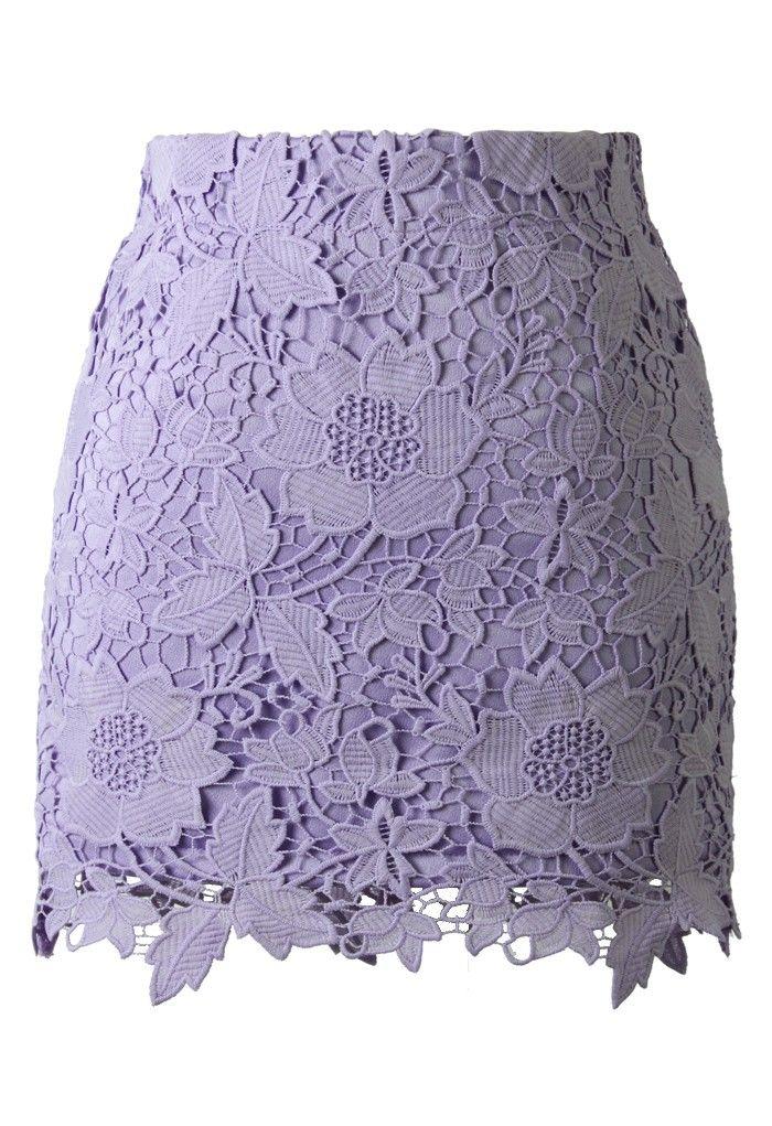 f0b52076c Purple Floral Crochet Skirt | CAPSULE WARDROBE + CLOSET — fashion ...