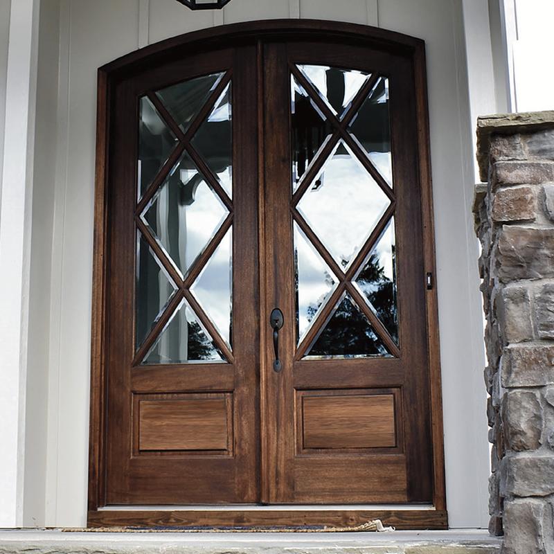 Miranda 7 Lite Arch Top Double Entry Door Double Entry Doors Home Door Design Entry Doors