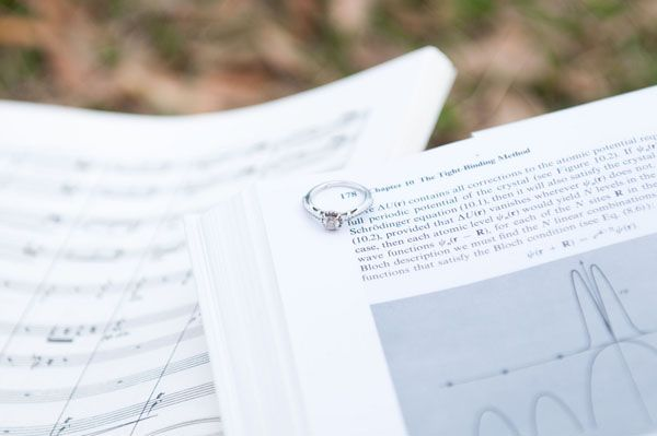 The bride loves music and the groom loves physics. Photo by Kelly Cameron