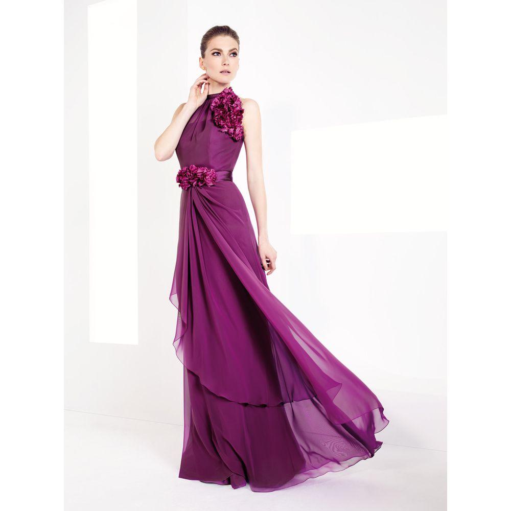 Aliexpress buy purple halter chiffon bridesmaid dresses