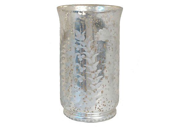 Mercury Glass Hurricane On Onekingslane Com Mercury
