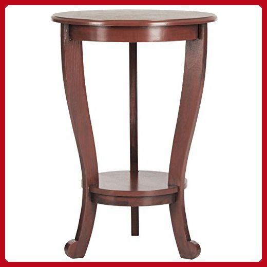 Safavieh American Home Collection Pedestal Side Table, Red - Improve your home (*Amazon Partner-Link)
