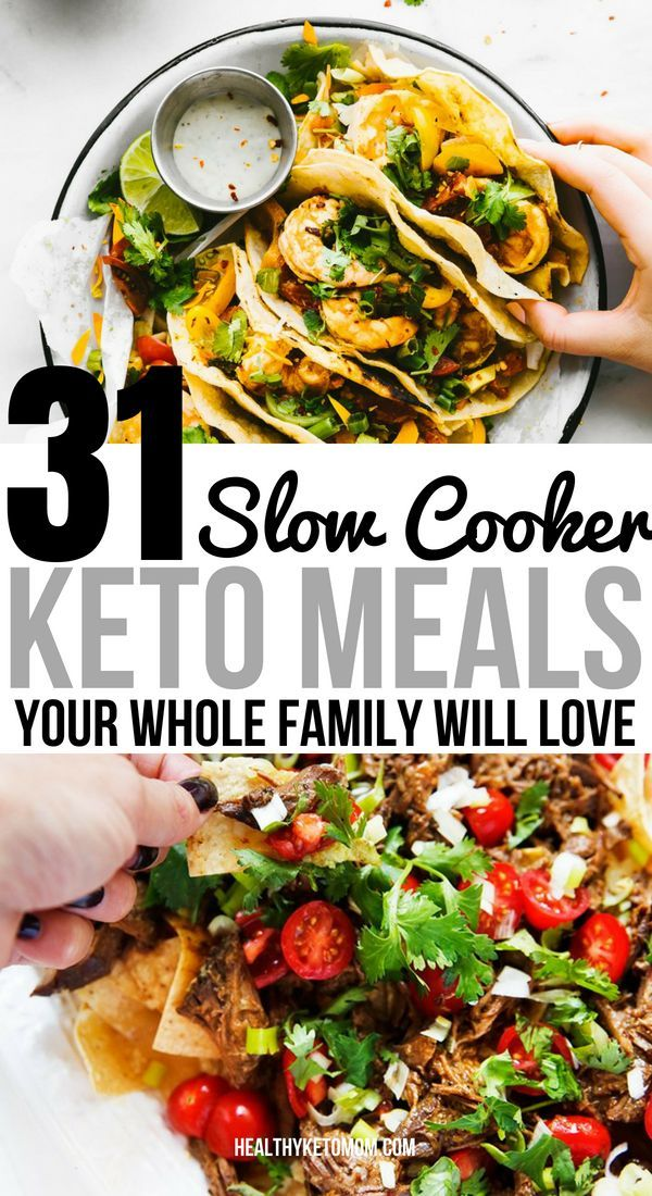 31 Keto Slow Cooker Recipes For A Whole Month Of Effortless Dinners #crockpotmeals