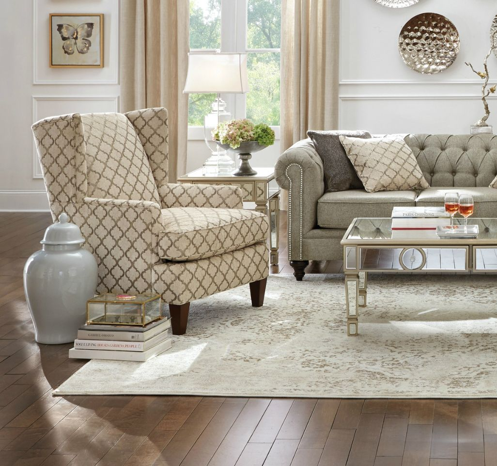 Beautiful Accent Chairs Grande Accent Chair Grey In 2019 Traditional Style Accent