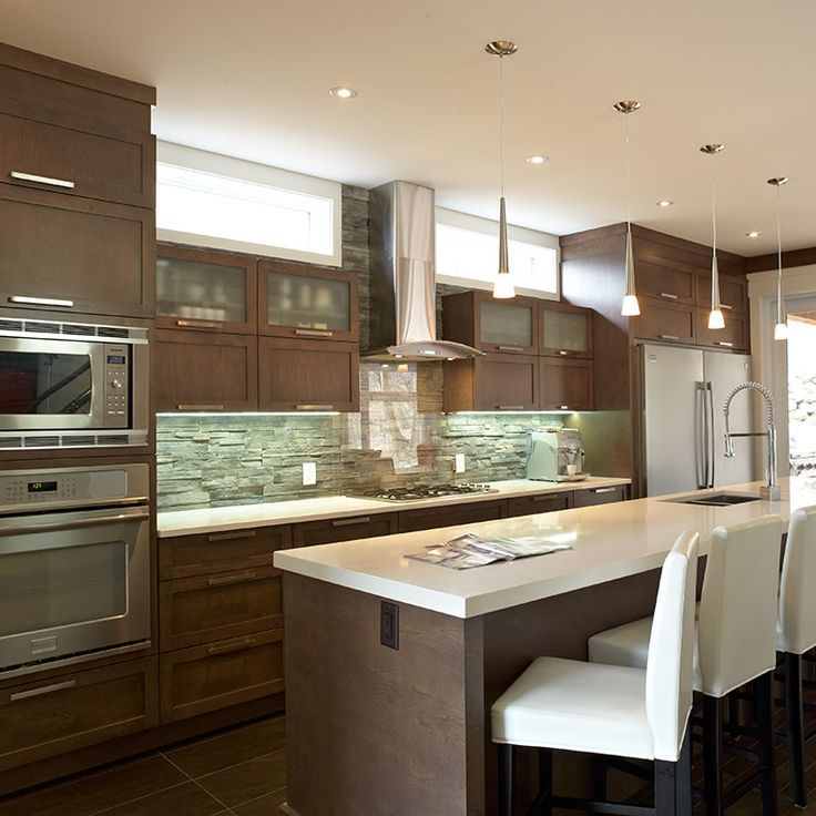 Nice id e relooking cuisine armoire de cuisine for Cuisine ouverte avec comptoir