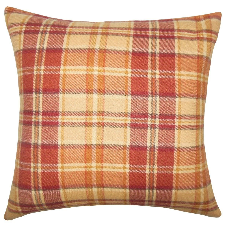 Heaton Plaid Wool Throw Pillow