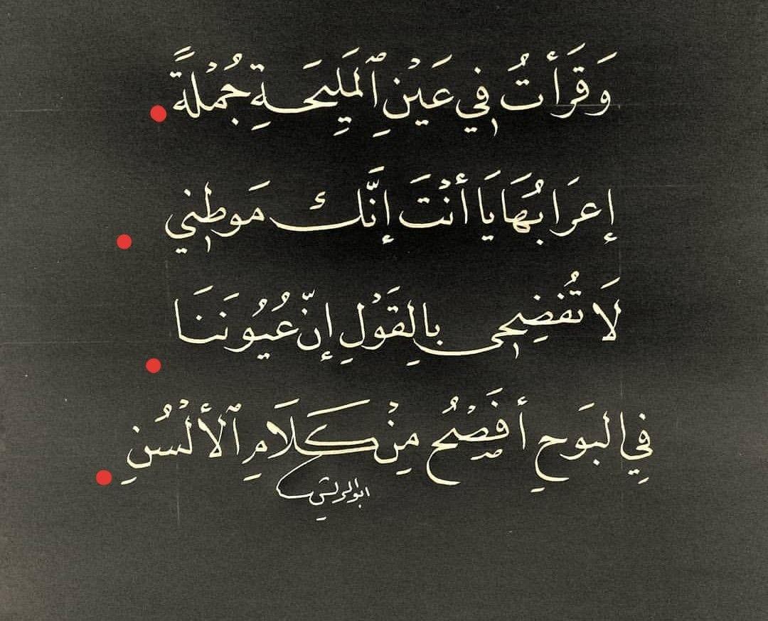 يا أنت انك موطني Beautiful Arabic Words Quotes Cool Words