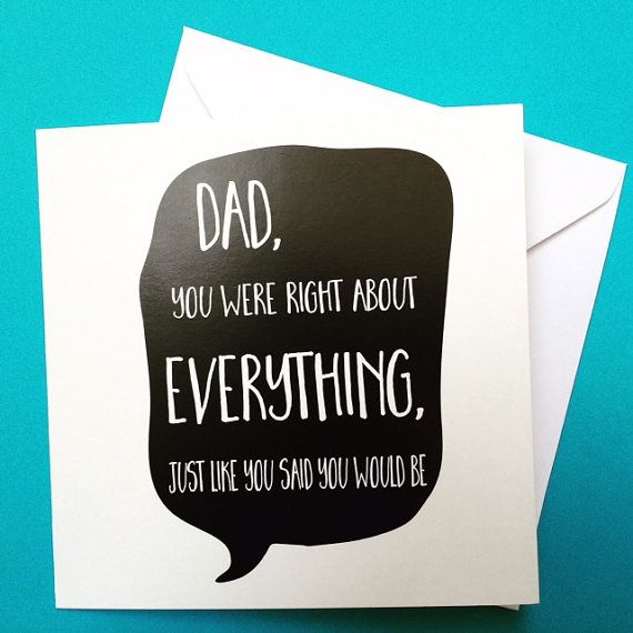 Fathers Day Dad Birthday Card Perfect For The Man Who Knows Everything By LukannaDesigns