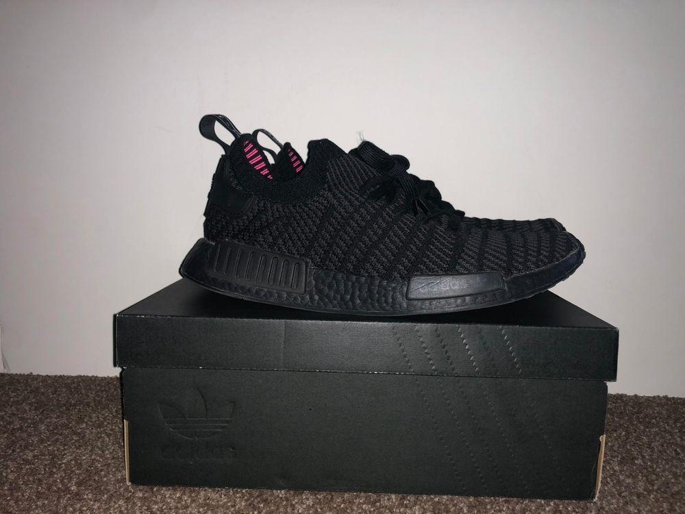 Adidas Men S Nmd R1 Stlt Pk Primeknit Triple Black Boost Cq2391 Size 11 Adidas Men Mens Nmd Triple Black