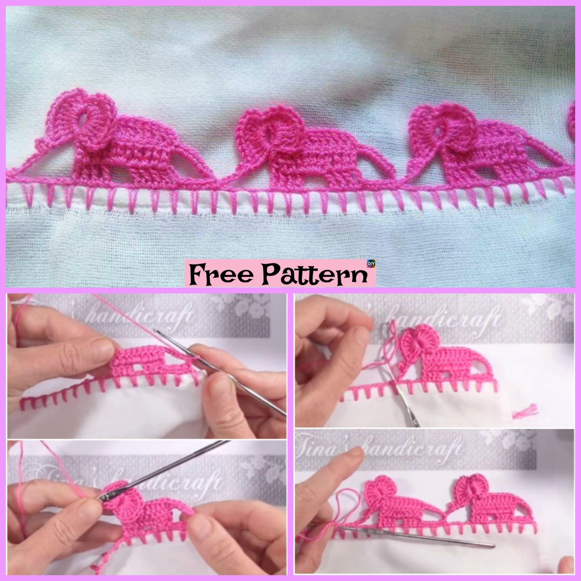 Easy Crochet Elephant Border   Stitch Tutorial! - YouTube   2000x2000
