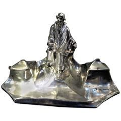Art Nouveau Inkwell After Hamlet by Shakespeare