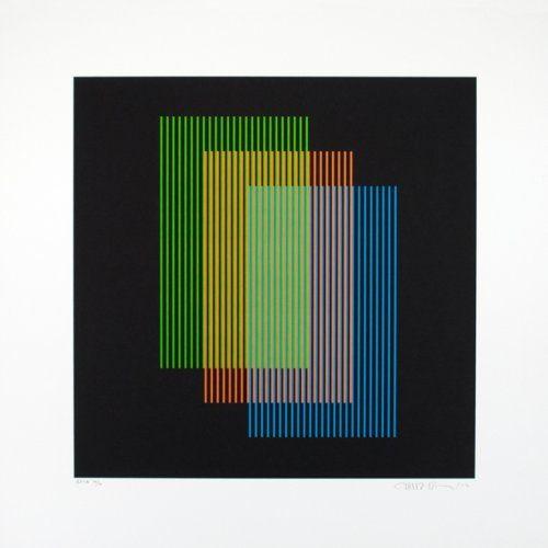 Carlos Cruz Diez Print Color Aditivo Ramblas Medium Lithograph Size 55 X Cm Edition Signed And Numbered Available At Poligrafa Obra Grafica