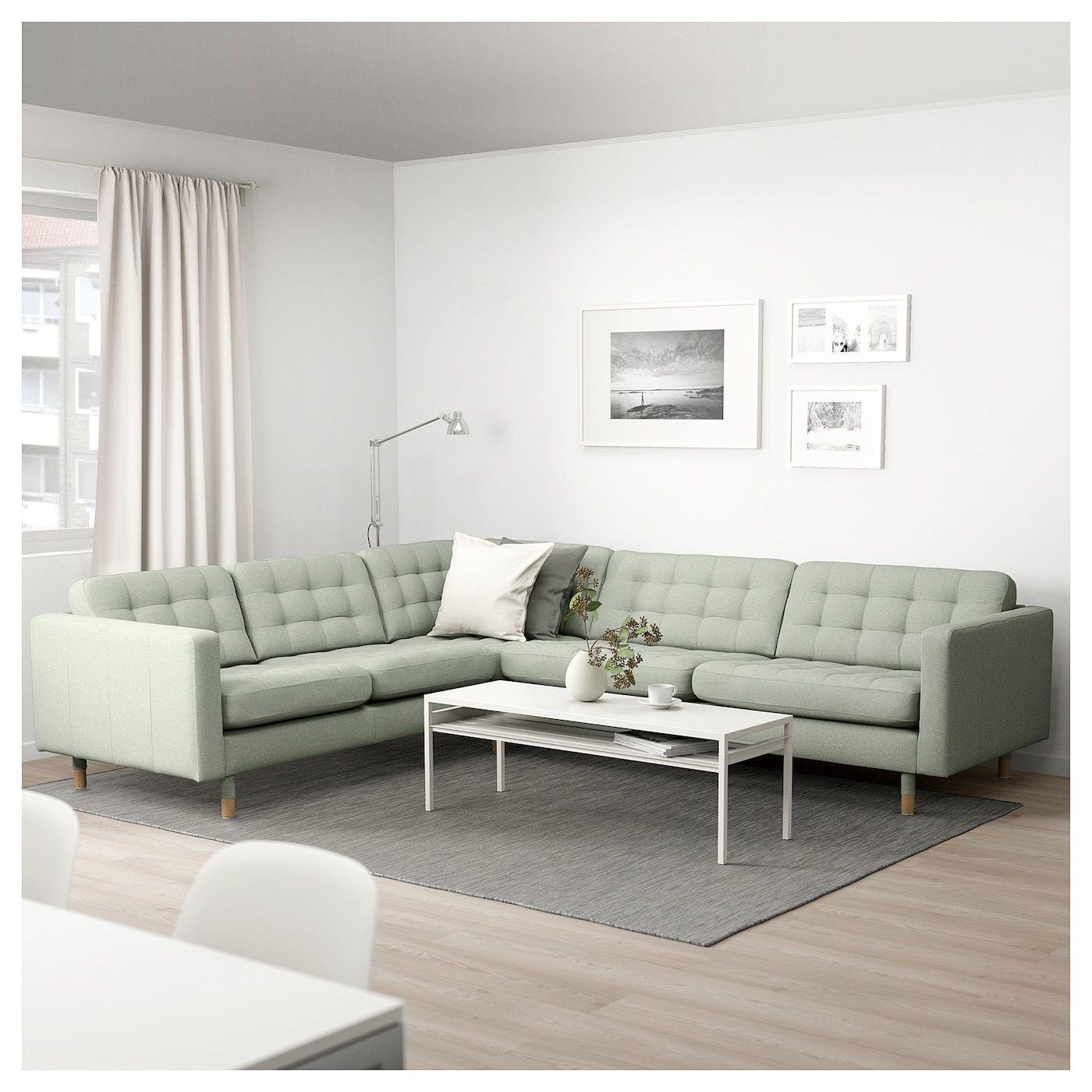 Landskrona Corner Sofa 5 Seat Gunnared Light Green Wood In 2020