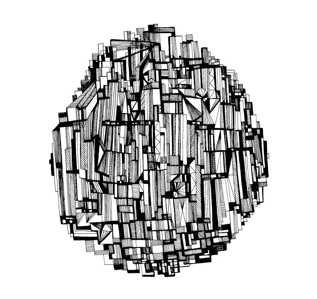 the round skyscraper 8x10 abstract fine art print of an