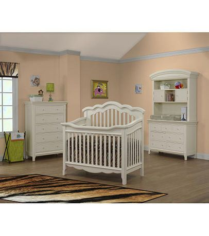 Sorelle Lusso Nursery Ravenna Collection Crib With Toddler Rail French White