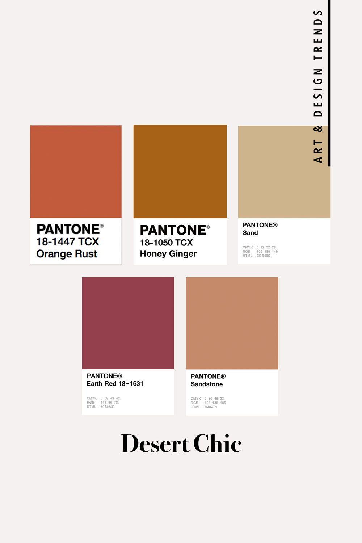Desert Chic Art Design Trends Autumn Interior Pantone Color Color Palette Inspiration