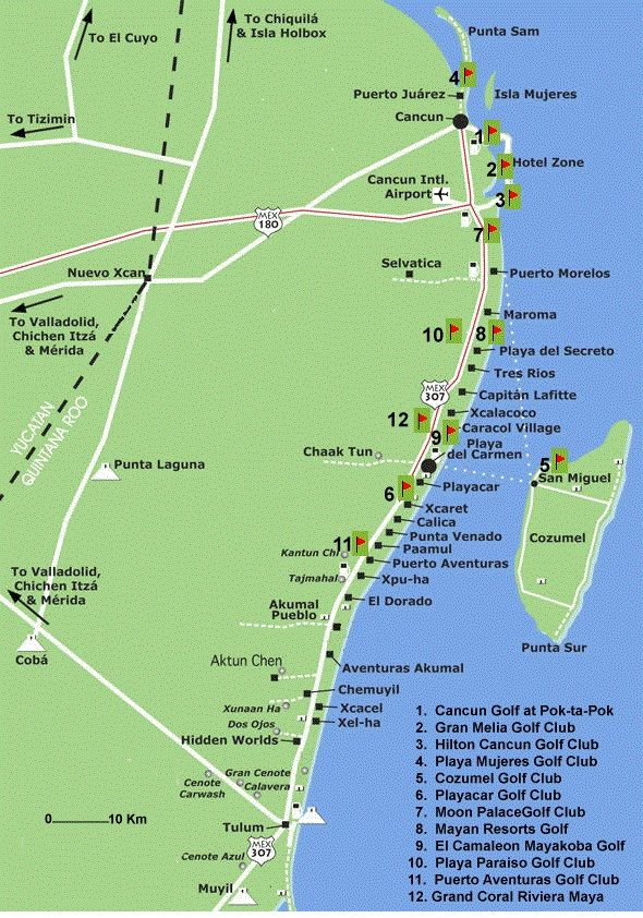 How To Take The Colectivos Tulum Or Cancun From Playa Del: Map Of Mexico Showing Tulum At Infoasik.co