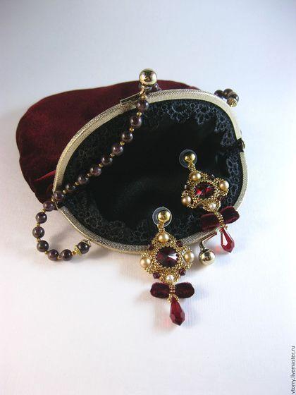 28e19ad68489 Купить или заказать Комплект 'Royal' (серьги+сумочка) в интернет-магазине