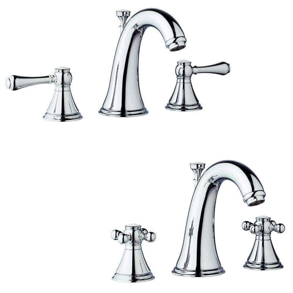 Grohe Geneva Mini Widespread Bathroom Faucet 20801000 Starlight ...