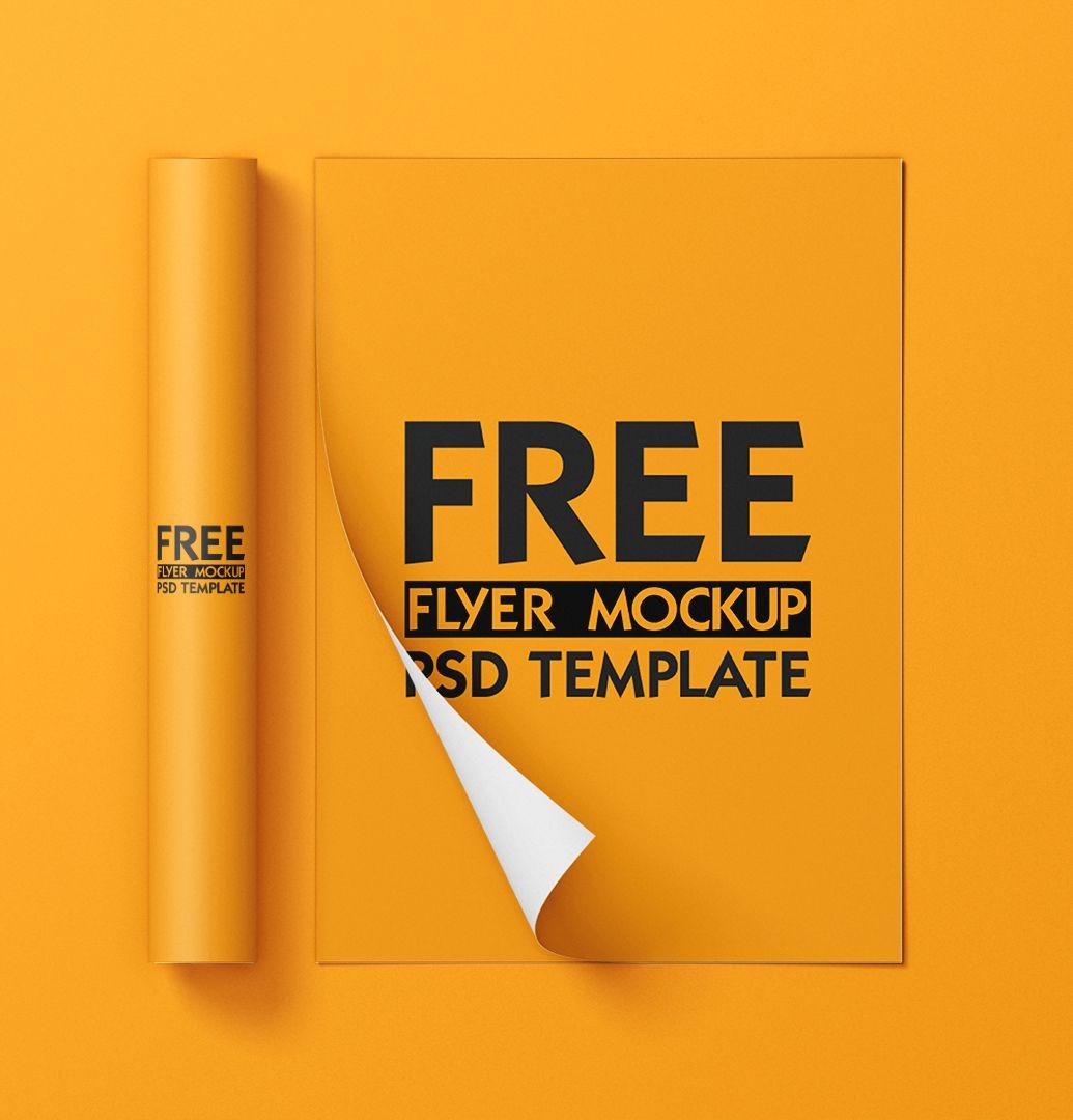 Free Flyer Mockup Psd Template In 2021 Flyer Mockup Psd Flyer Mockup Psd Templates
