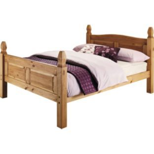 135 99 Buy Living Puerto Rico Double Bed Frame Pine At Argos Co