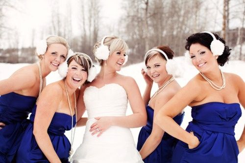 earmuffs! So cute for winter wedding