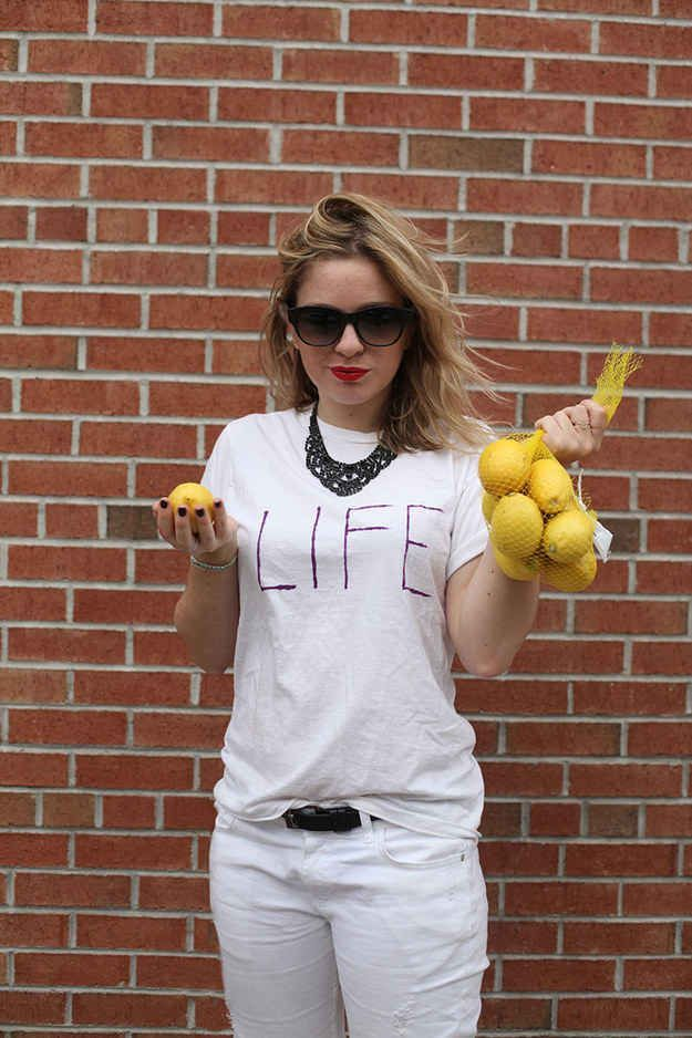 #diyhalloweencostumes | New Halloween Costume Ideas | Pinterest | Lemon Halloween costumes and Halloween party supplies  sc 1 st  Pinterest & When life hands you lemonsu2026u201d #diyhalloweencostumes | New Halloween ...