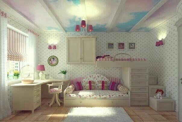 Beautiful baby girl room
