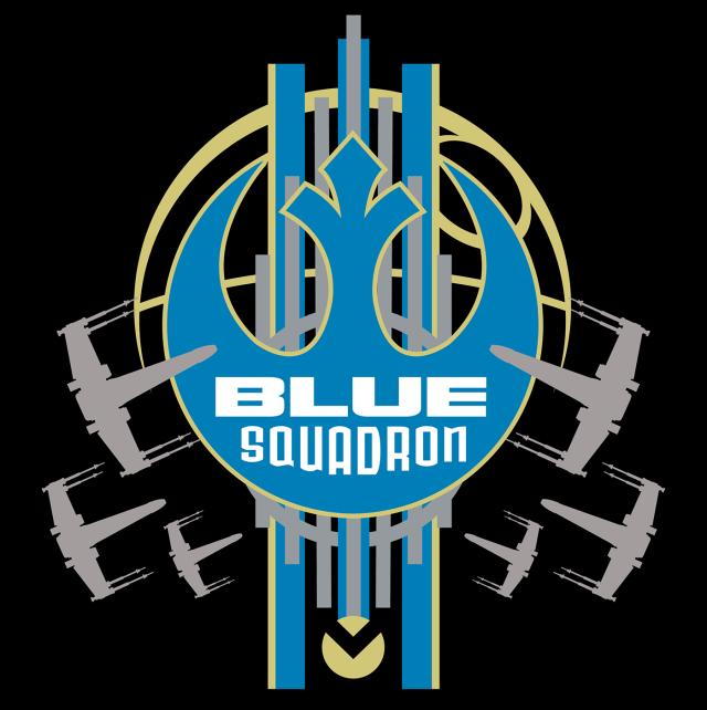 Star Wars Rogue One Blue Squadron Star Wars Tshirt Star Wars Art Star Wars Merchandise