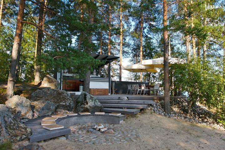 Luonnonkaunis Design-Villa Mikkelin kupeessa.