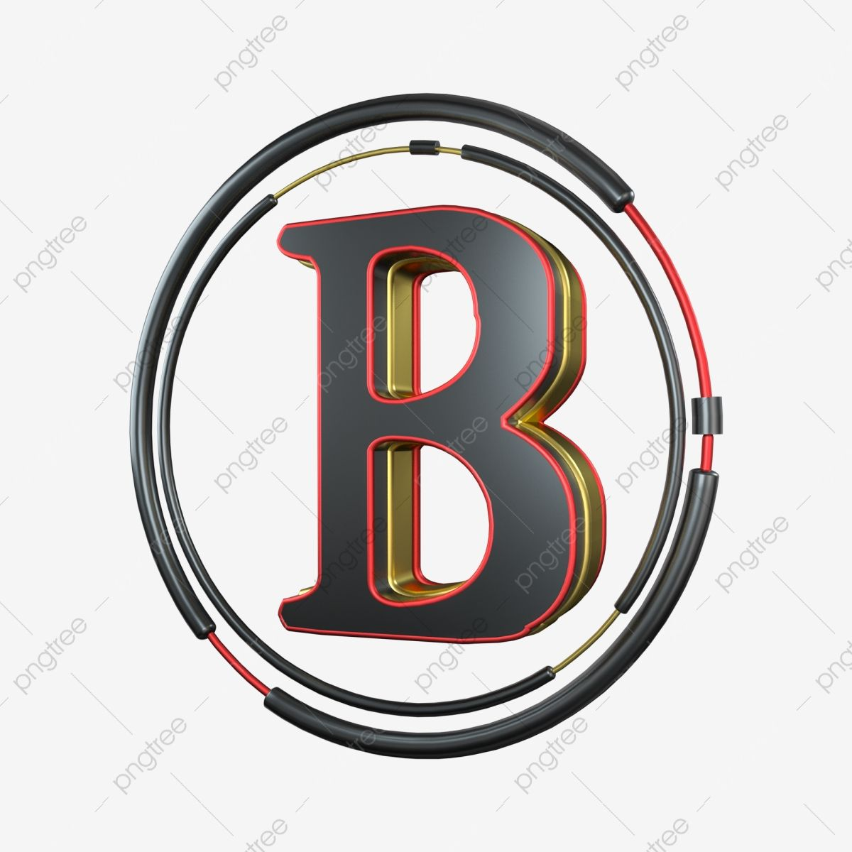 C4d Cool Black Red Gold Three Dimensional Letter B Decoration C4d 3d Cool Png Transparent Clipart Image And Psd File For Free Download Lettering Letter B Clip Art