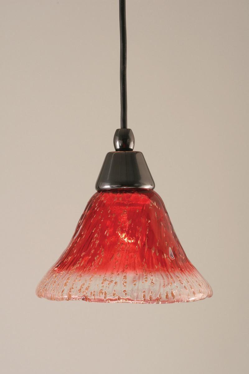 Red Glass Light Pendant Toltec Lighting Pendant Light Fixtures